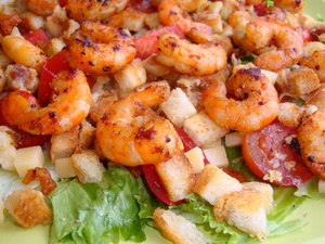 salad s krevetkami
