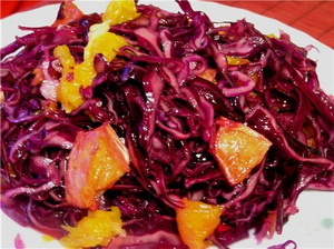 salad with red cabbage